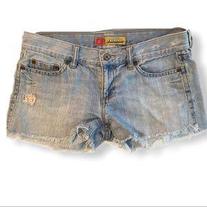 OLD NAVY Ultra Low Waist Distressed Denim Shorts